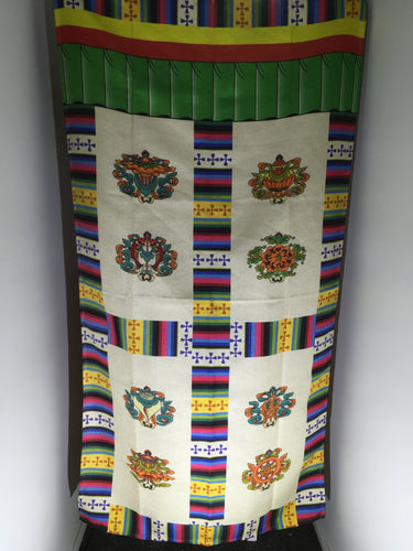 Premimum door curtain with eight auspicious symbols