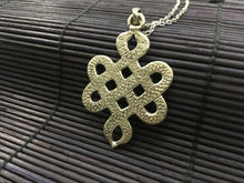 Load image into Gallery viewer, Silver Endless Knot Pendant