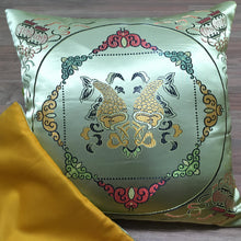 Load image into Gallery viewer, Cushion cover golden fish front