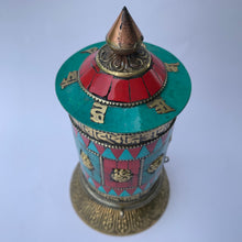Load image into Gallery viewer, Standing Prayer Wheel - Stone Patched - Large