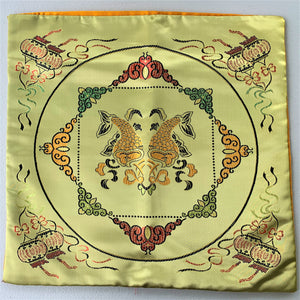 Cushion cover golden fish top