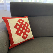 Load image into Gallery viewer, cover cushion cotton endless knot design example