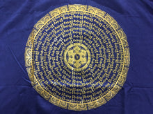 Load image into Gallery viewer, Cotton Short Sleeve T-shirt Mantra Mandala print dark blue