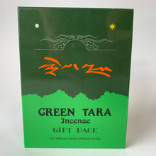 Load image into Gallery viewer, Incense Tibetan Green Tara gift pack back