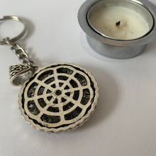 Load image into Gallery viewer, Key Chain Round Eight Auspicious Symbols Key Chain scale back