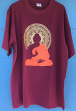 Load image into Gallery viewer, Meditating Buddha Print Maroon T-Shirt
