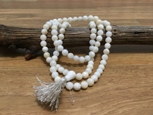 Load image into Gallery viewer, White Naga Shell 108 Prayer Bead Mala