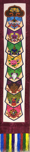 Plum Brocade Eight Auspicious Symbol Wall Hanging