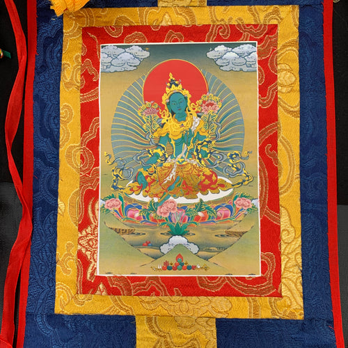 Small Thangka - Green Tara