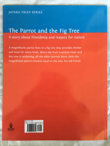 children's story book - the parrot and the fig tree - backcover