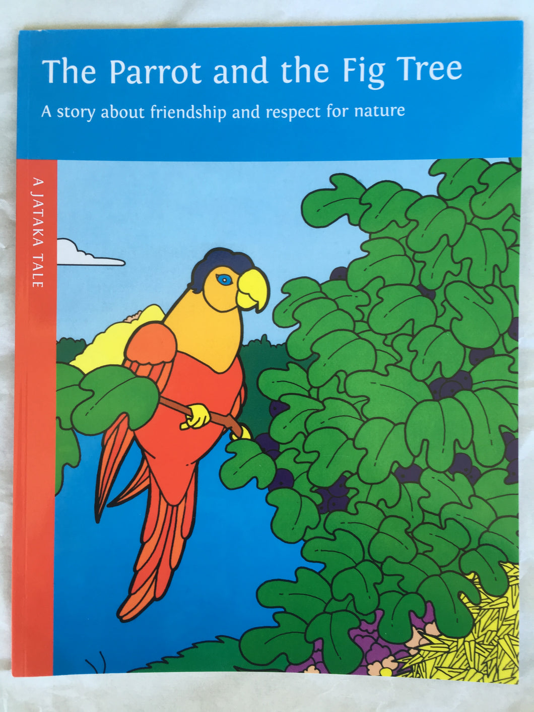 children's story book - the parrot and the fig tree - front cover