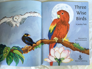 Children's Story Book: Three Wise Birds - title page