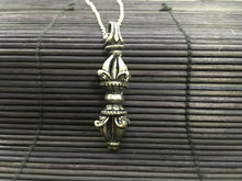 Load image into Gallery viewer, Silver Vajra shaped pendant
