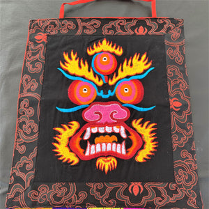 Wall hanging Mahakala black close up