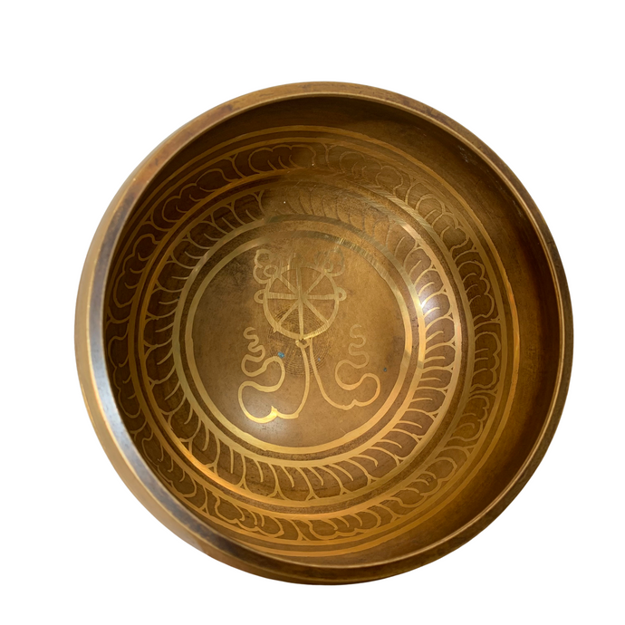 Dharma Wheel Singing Bowl