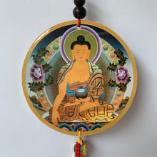 Load image into Gallery viewer, Hanger Buddha Shakyamuni Print Wood Hanger with Mantra front