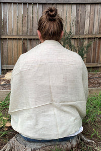 shawl cashmere beige example