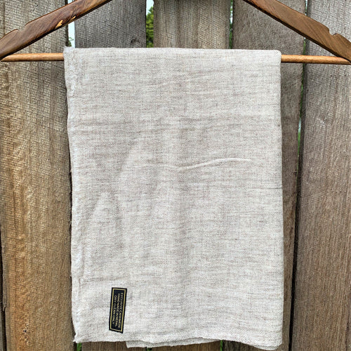 shawl cashmere light grey folded