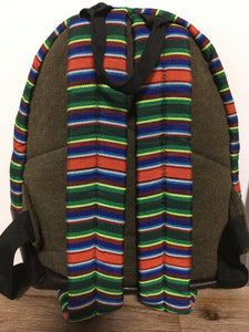 Tibetan Flag Children's Backpack Chocolate brown imitation leather back