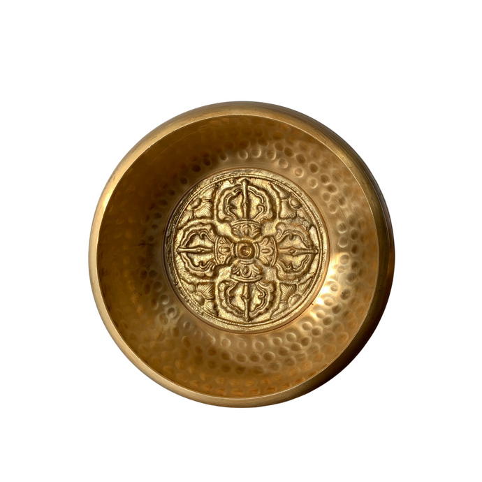 Double Dojre Singing Bowl- Golden
