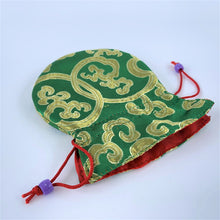 Load image into Gallery viewer, green brocade bag