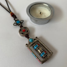 Load image into Gallery viewer, Hanger with Prayer Wheel and Double Vajra scale