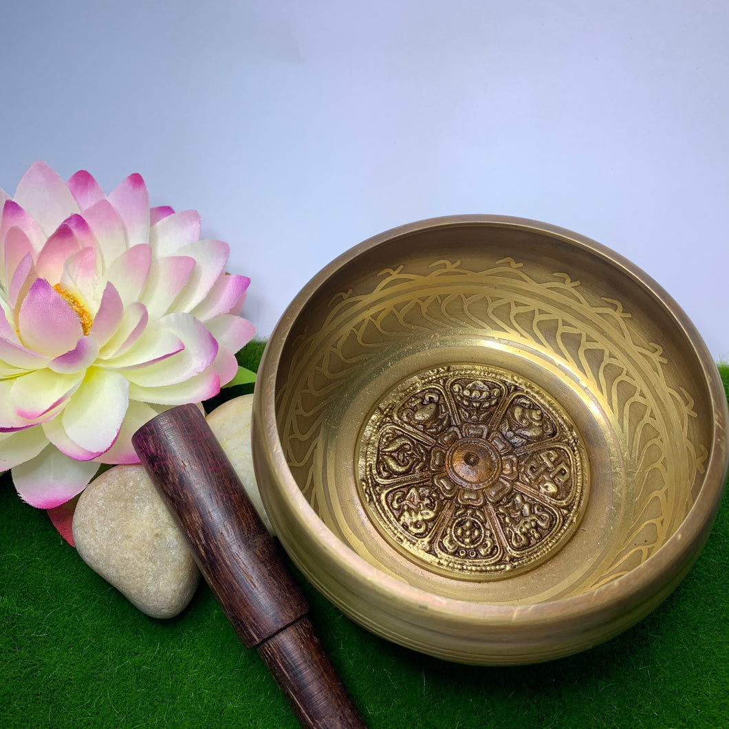 Eight Auspicious Symbols Singing Bowl