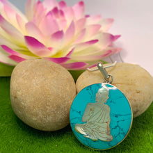 Load image into Gallery viewer, Turquoise Buddha Pendant