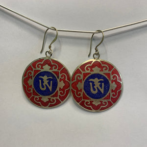 Tibetan OM Earrings