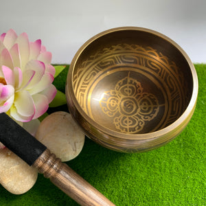 Brass Singing Bowl - Hand Painted
