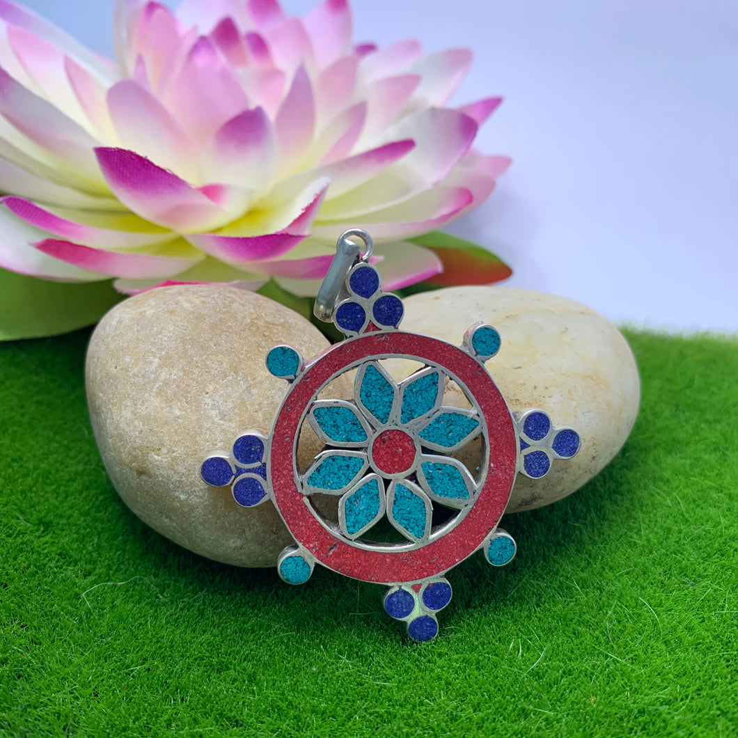 Flower Wheel Pendant