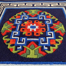 Load image into Gallery viewer, tibetan carpet: dark blue close up