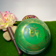 Load image into Gallery viewer, Green Handpainted  Singing Bowl