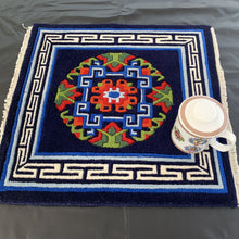 Load image into Gallery viewer, tibetan carpet: dark blue scale
