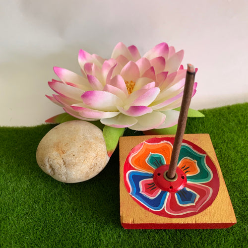 Lotus Incense Holder - Square