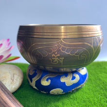 Load image into Gallery viewer, Brass Singing Bowl - Hand Painted