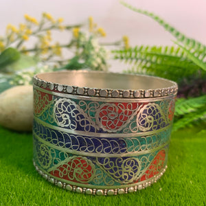 Three Colour Filigree Cuff