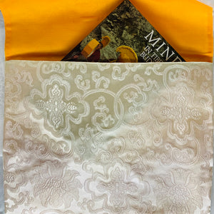 Brocade Book Bag - Cream
