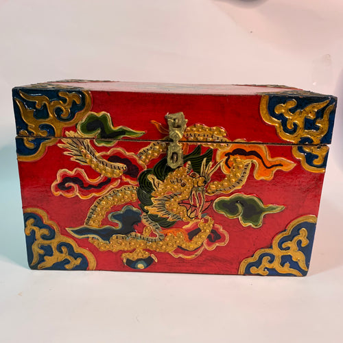 Tibetan Treasure Box Flower Red