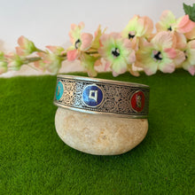 Load image into Gallery viewer, Multicolour Mani Compassion Mantra Bracelet