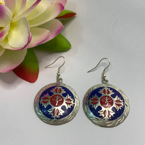 Double Dorje Round Earrings