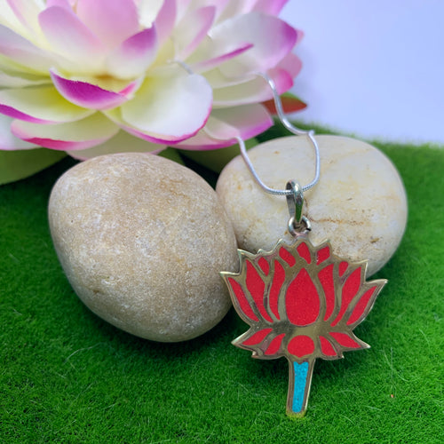 Lotus Cut Out Pendant