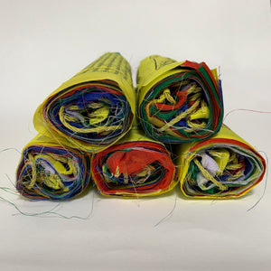 Large Tibetan Prayer Flags side view
