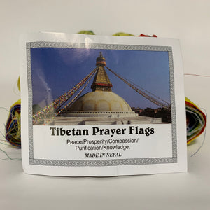 Large Tibetan Prayer Flags with sign