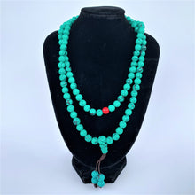 Load image into Gallery viewer, prayer beads mala turquoise on bust