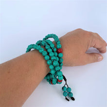 Load image into Gallery viewer, prayer beads mala turquoise scale