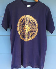 Load image into Gallery viewer, Mani Mandala dark blue t-shirt