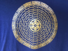 Load image into Gallery viewer, Mani Mandala dark blue t-shirt close up