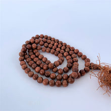 Load image into Gallery viewer, prayer beads mala sandstone sunstone 108 beads coiled