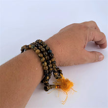 Load image into Gallery viewer, prayer beads mala tiger eye stone 108 beads scale